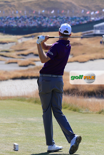Brendon TODD (USA) tees off the 18th tee during Wednesday's Practice Day of the 2015 U.S. Open 115th National Championship held at Chambers Bay, Seattle, Washington, USA. 6/17/2015.<br /> Picture &copy; Golffile/Eoin Clarke