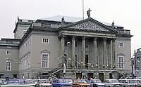 East Berlin : The Opera--Unter Den Linden.  Architect Georg Wenzeslaus von Knobelsdorff., 1743. Reopened 1955.