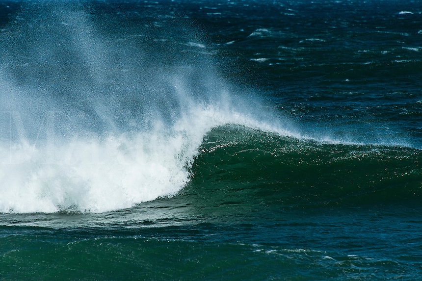 Wave breaking, Cape Cod, Massachusetts, USA