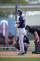 Minnesota Twins Brad Hartong (49) during a minor league Spring Training intrasquad game on March 15, 2016 at CenturyLink Sports Complex in Fort Myers, Florida.  (Mike Janes/Four Seam Images)