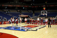 SAN ANTONIO, TX - APRIL 6: The team during the final shootaround practice on April 6, 2010 at the Alamo Dome in San Antonio, Texas.