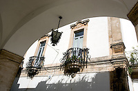I caratteristici balconi in ferro battuto a via Cavour, nella cittadina di Martina Franca.<br /> Typical wrought iron balconies in via Cavour, in the town of Martina Franca.<br /> UPDATE IMAGES PRESS/Riccardo De Luca
