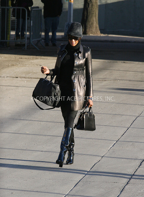 21 March 2007 - New York, NY - Naomi Campbell arriving at the the Sanitation Department of New York on her Third Day of Community Service .