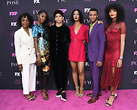 """09 August 2019 - West Hollywood, California - Charlayne Woodard, Angelica Ross, Angel Bismark Curiel, MJ Rodirguez, Dyllon Burnside, Indya Moore. Red Carpet Event For FX's """"Pose"""" held at Pacific Design Center.   <br /> CAP/ADM/BT<br /> ©BT/ADM/Capital Pictures"""