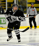 30 December 2007: Western Michigan University Broncos' center Max Campbell, a Freshman from Strathroy, Ontario, in action against the Holy Cross Crusaders at Gutterson Fieldhouse in Burlington, Vermont. The teams skated to a 1-1 tie, however the Broncos took the consolation game in a 2-0 shootout to win the third game of the Sheraton/TD Banknorth Catamount Cup Tournament...Mandatory Photo Credit: Ed Wolfstein Photo