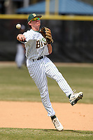 March 17, 2010:  Shortstop Max Casper (4) of North Dakota State University Bison vs. Long Island University at Lake Myrtle Park in Auburndale, FL.  Photo By Mike Janes/Four Seam Images