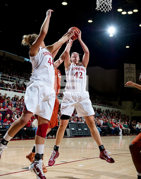 STANFORD CA-NOVEMBER 28, 2010: Sarah Boothe during the Stanford 93-78 win over Texas in Stanford, California.