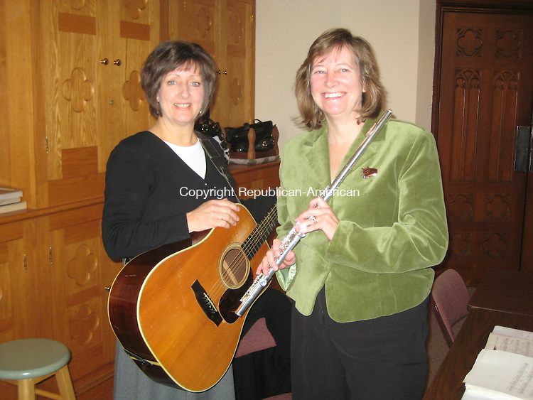 WINSTED, CT - 112608GG02 - 23 November 2008 - Patty Cerruto, left, and Cynthia Serafini are two of the original members of the folk mass group at St. Joseph Church. The group recently celebrated its 35th anniversary. Gary Gentile Republican-American