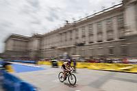 Mohamen Masoo of Syria during the 2017 Madrid ITU Triathlon World Cup in Madrid, May 28, 2017. Spain.. (ALTERPHOTOS/Rodrigo Jimenez) /NortePhoto.com