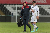 Pictured: Mason Jones Thomas of Swansea. Tuesday 01 May 2018<br /> Re: Swansea U19 v Cardiff U19 FAW Youth Cup Final at the Liberty Stadium, Swansea, Wales, UK