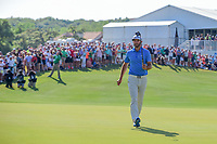 Dustin Johnson (USA) after sinking his putt on 13 during round 7 of the World Golf Championships, Dell Technologies Match Play, Austin Country Club, Austin, Texas, USA. 3/26/2017.<br /> Picture: Golffile | Ken Murray<br /> <br /> <br /> All photo usage must carry mandatory copyright credit (&copy; Golffile | Ken Murray)