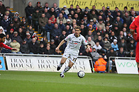 Pictured: Angel Rangel of Swansea City in action <br /> Re: Coca Cola Championship, Swansea City Football Club v Watford at the Liberty Stadium, Swansea, south Wales 09 November 2008.<br /> Picture by Dimitrios Legakis Photography (Athena Picture Agency), Swansea, 07815441513