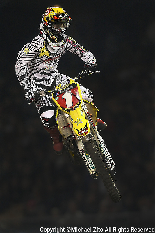 01/22/11 Los Angeles, CA:  Ryan Dungey during the 1st ever AMA Supercross held at Dodger Stadium.
