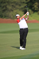Shane Lowry (IRL) on the 10th fairway during the preview for the DP World Tour Championship at the Earth course,  Jumeirah Golf Estates in Dubai, UAE,  18/11/2015.<br /> Picture: Golffile | Thos Caffrey<br /> <br /> All photo usage must carry mandatory copyright credit (&copy; Golffile | Thos Caffrey)