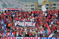 MEDELLÍN -COLOMBIA-19-07-2017: Hinchas del Medellín animan a su equipo durante el partido entre Independiente Medellín y Atlético Huila por la fecha 3 de la Liga Águila II 2017 jugado en el estadio Atanasio Girardot de la ciudad de Medellín. / Fans of Medellin cheer for their team during match between Independiente Medellin and Atletico Huila for the date 3 of the Aguila League II 2017  at Atanasio Girardot stadium in Medellin city. Photo: VizzorImage/ León Monsalve / Cont