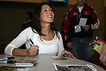 19 January 2008: For United States Women's National Team player Tiffany Roberts signs an autograph. The 2008 National Soccer Coaches Association of America's annual convention was held at the Convention Center in Baltimore, Maryland.