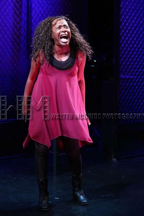 Jeannette Bayardelle performing in 'Shida - A New Musical' at Ars Nova on July 18, 2013 in New York City. The Play is Written and Performed by Jeannette Bayardelle and Directed by Andy Sandberg