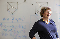 Ingrid Daubechies, James B. Duke Professor of Mathematics and Electrical and Computer Engineering, at Duke University in Durham, North Carolina, Monday, January 14, 2019  (Justin Cook)