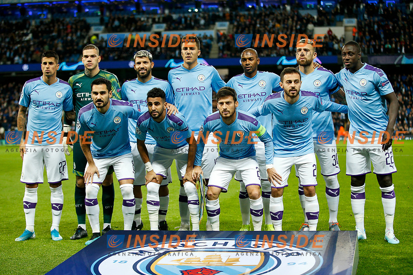 Manchester City line up before the UEFA Champions League Group C match between Manchester City and Dinamo Zagreb at the Etihad Stadium on October 1st 2019 in Manchester, England. (Photo by Daniel Chesterton/phcimages.com)<br /> Foto PHC/Insidefoto <br /> ITALY ONLY