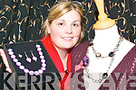 Jennifer Scanlon, proprietor of Coco Boutique on William Street, Listowel where a range of jewellery is available to buy.   Copyright Kerry's Eye 2008