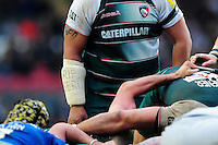A general view of a Seru Rabeni tribute on the strapping of Opeti Fonua of Leicester Tigers. Aviva Premiership match, between Leicester Tigers and Saracens on March 20, 2016 at Welford Road in Leicester, England. Photo by: Patrick Khachfe / JMP