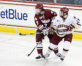 Casey Wellman (UMass - 7), Edwin Shea (BC - 8) - The Boston College Eagles defeated the University of Massachusetts-Amherst Minutemen 5-2 on Saturday, March 13, 2010, at Conte Forum in Chestnut Hill, Massachusetts, to sweep their Hockey East Quarterfinals matchup.