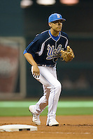 Third baseman Chris Amezquita #4 on defense versus the Baylor Bears in the 2009 Houston College Classic at Minute Maid Park February 28, 2009 in Houston, TX.  The Bears defeated the Bruins 5-1. (Photo by Brian Westerholt / Four Seam Images)