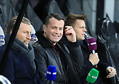 9th December 2017, St James Park, Newcastle upon Tyne, England; EPL Premier League football, Newcastle United versus Leicester City; Ex Newcastle United Goalkeeper Shay Given flanked by Robbie Savage and Jake Humphrey before the match