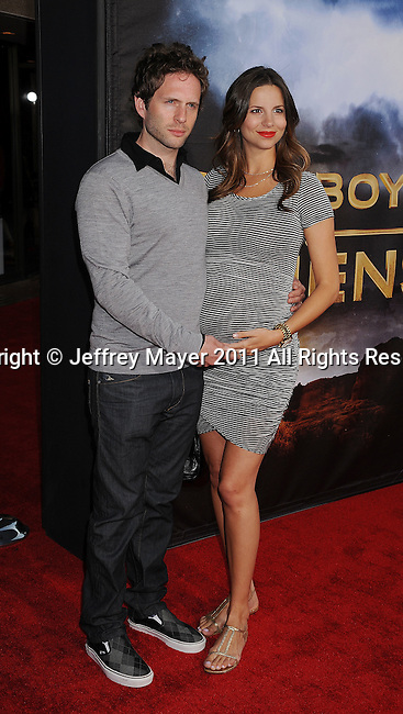 "SAN DIEGO, CA - JULY  23: Glenn Howerton and Jill Latiano arrive at the ""Cowboys & Aliens"" World Premiere at the San Diego Civic Theatre on July 23, 2011 in San Diego, California."