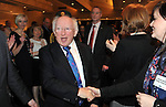 5-3-2012 HOTELIERS CONFERNCE KILKENNY MONDAY: President Michael D Higgins is greeted by delegates at the IHF conference  in the Hotel Kilkenny on Monday..Picture by Don MacMonagle...pic from IHF