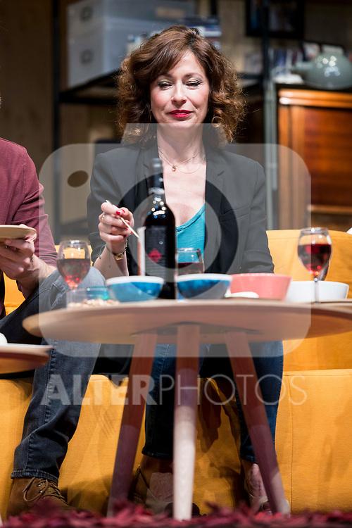 Maria Lanau during theater play of &quot;Los vecinos de arriba&quot; at Teatro Circulo de Bellas Artes in Madrid, April 25, 2017. Spain.<br /> (ALTERPHOTOS/BorjaB.Hojas)