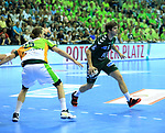 09.06.2019, Max Schmeling Halle, Berlin, GER, DHB,  1.HBL,  FUECHSE BERLIN VS. HSG Wetzlar,<br /> DHB regulations prohibit any use of photographs as image sequences and/or quasi-video<br /> im Bild Jacob Tandrup Holm (Fuechse Berlin #6), Olle Forsell Schefvert (HSG Wetzlar #25)<br /> <br />      <br /> Foto © nordphoto / Engler