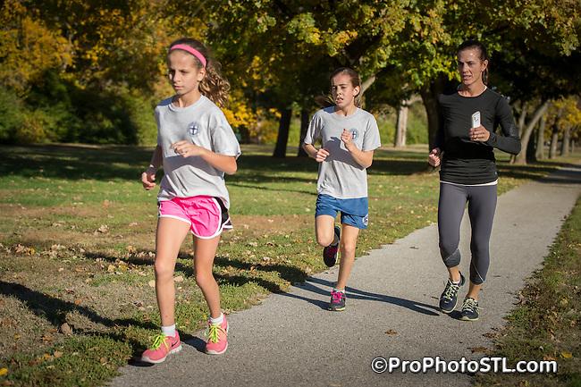 Girls on The Run test run in Heman Park in University City, MO on Nov 1, 2013.