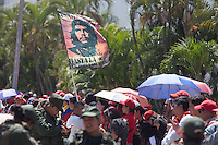 CARACAS - VENEZUELA 08-03-2013, Una bandera del Che Guevara ondea durante el funeral de estado de Chávez. El lider y  presidente de Venezuela, Hugo Chávez Frías, falleció el pasado martes 5 de marzo de 2013 a causa de un cancer a la edad de 58 años./ A Che Guevara's flag waves during the state funeral of Chavez. The leader and president of Venezuela, Hugo Chavez Frias who died by cancer the past March 5th of 2013 at the age of 58. Photo: VizzorImage / CONT