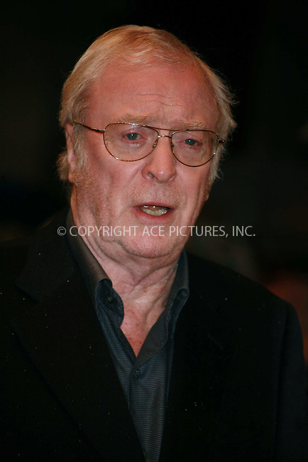 Ferrari Press Agency.Ref TMK 1891.Sleuth1.18/11/07.See Ferrari text..Picture: Tracy Moreno-King..Premiere of Sleuth, starring Jude Law and Michael Caine. It is a remake of the 1972s thriller which starred Caine and Sir Laurence Olivier...The film has been directed by Kenneth Branagh....The Screening was at the Odeon theatre, Leicester Square, London,..OPS:  Sir Michael Caine.photos by Tracy Moreno-King