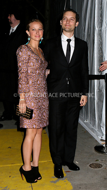 WWW.ACEPIXS.COM....November 13 2012, New York City....Tobey Maguire and Jennifer Meyer arriving at The Ninth Annual CFDA/Vogue Fashion Fund Awards at 548 West 22nd Street on November 13, 2012 in New York City. ......By Line: Nancy Rivera/ACE Pictures......ACE Pictures, Inc...tel: 646 769 0430..Email: info@acepixs.com..www.acepixs.com