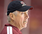 Jerry York - Boston College's morning skate on Friday, December 30, 2005 at Magness Arena in Denver, Colorado.  Boston College defeated Ferris State that afternoon in a shootout and defeated Princeton the following night to win the Denver Cup.