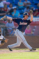 Johnny Drennen (22) of the Kinston Indians swings and misses at Ernie Shore Field in Winston-Salem, NC, Saturday, May 17, 2008.