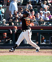 Miguel Gomez - San Francisco Giants 2018 spring training (Bill Mitchell)