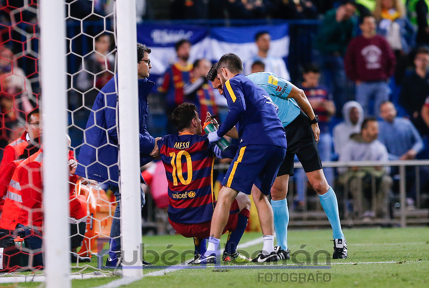 FC Barcelona´s Argentinean forward Lionel Messi during the Final of Copa del Rey match between FC Barcelona and SevillaFC at the Vicente Calderon Stadium in Madrid, Sunday, May 22, 2016.