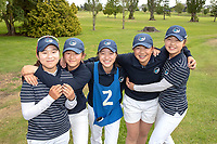 Auckland teammates celebrate winning the National Interprovincial Tournament. Toro New Zealand Womens Interprovincial Tournament, Waitikiri Golf Club, Christchurch, New Zealand, Saturday 8th December 2018. Photo:Martin Hunter /www.bwmedia.co.nz