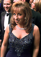 Paula Jones attends a party prior to the White House Correspondents Dinner at the Washington Hilton Hotel in Washington, DC on April 25, 1998.<br /> Credit: Ron Sachs / CNP /MediaPunch