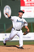 Dan Altavilla #32 of the Everett AquaSox pitches against the Boise Hawks at Everett Memorial Stadium on July 25, 2014 in Everett, Washington. Everett defeated Boise, 3-1. (Larry Goren/Four Seam Images)