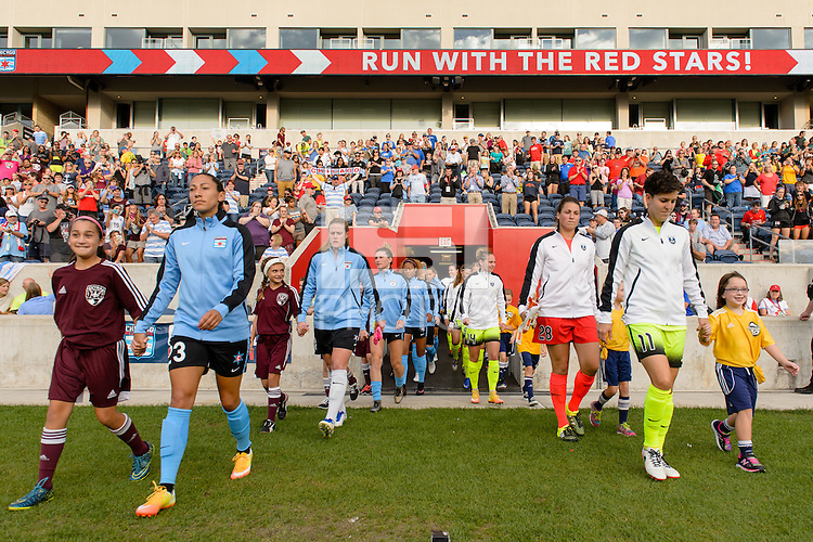 Chicago, IL - Sunday Sept. 04, 2016: Chicago Red Stars, Seattle Reign prior to a regular season National Women's Soccer League (NWSL) match between the Chicago Red Stars and Seattle Reign FC at Toyota Park.