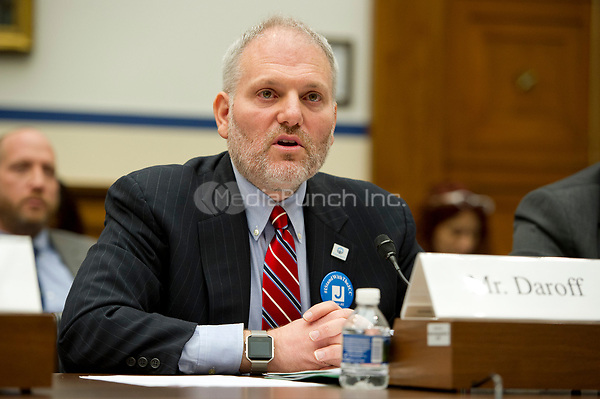 William Daroff, Senior Vice President for Public Policy and Director of the Washington Office, Jewish Federations of North America testifies before the US House Committee on Homeland Security on Thursday, March 16, 2017. In his remarks, Daroff highlighted the importance of FEMA&rsquo;s Nonprofit Security Grant Program to protect Jewish institutions amidst unprecedented levels of anti-Semitism in recent months and briefed the committee on bomb threats and other acts of anti-Semitism.  &ldquo;Since Sept. 11, non-profits, in general, and Jewish communal institutions, in particular, have been targeted by international terrorist organizations and home grown violent extremists from across the ideological spectrum.&rdquo;  &ldquo;Since January 1, at least 116 Jewish communal institutions, including community centers, schools, places of worship, and others have received more than 160 bomb threats in 39 states.&rdquo;<br /> Credit: Ron Sachs / CNP /MediaPunch