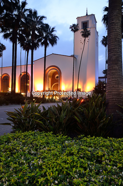 Early morning views of Los Angeles Union Station