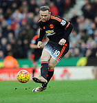 Wayne Rooney of Manchester United<br /> - Barclays Premier League - Stoke City vs Manchester United - Britannia Stadium - Stoke on Trent - England - 26th December 2015 - Pic Robin Parker/Sportimage