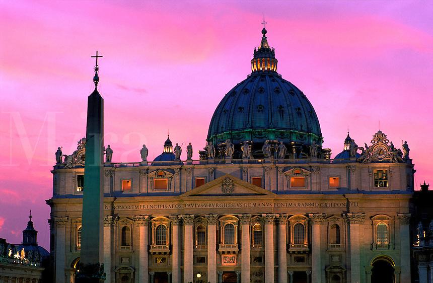Italy,Rome, The Vatican. Saint Peter's Basilica