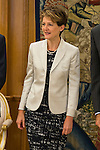 President Simonetta Sommaruga during an official meeting at Zarzuela Palace in Madrid, Spain. July 06, 2015.<br />  (ALTERPHOTOS/BorjaB.Hojas)