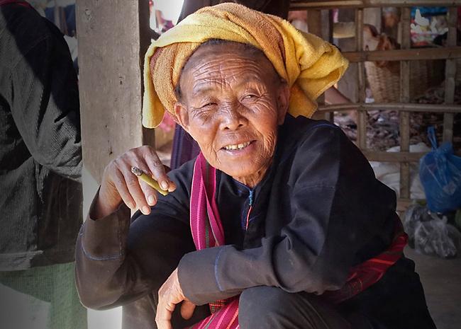 Market woman in Burma, Inle Lake